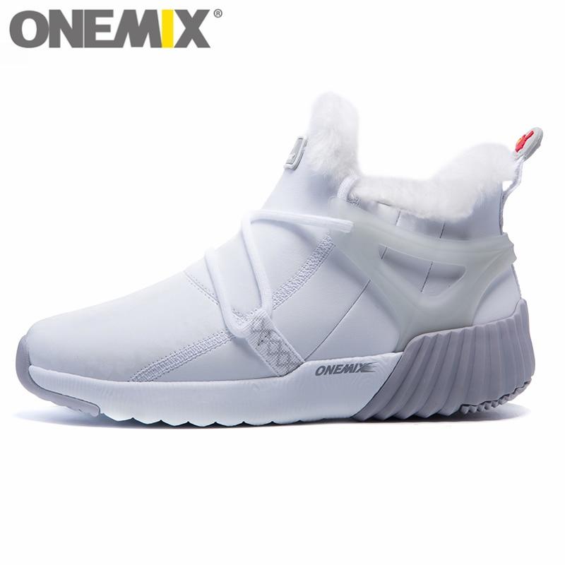 ONEMIX Frauen Winter Schnee Stiefel Warm Halten Turnschuhe Für Weibliche Schuhe Bequeme Laufschuhe Walking Im Freien Sport Trainer