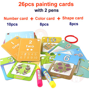 Image 2 - Magic Drawing Book Water Coloring Toys Clipboard Painting Doodle Creation Board With Pens Kids Craft  Educational Child Game