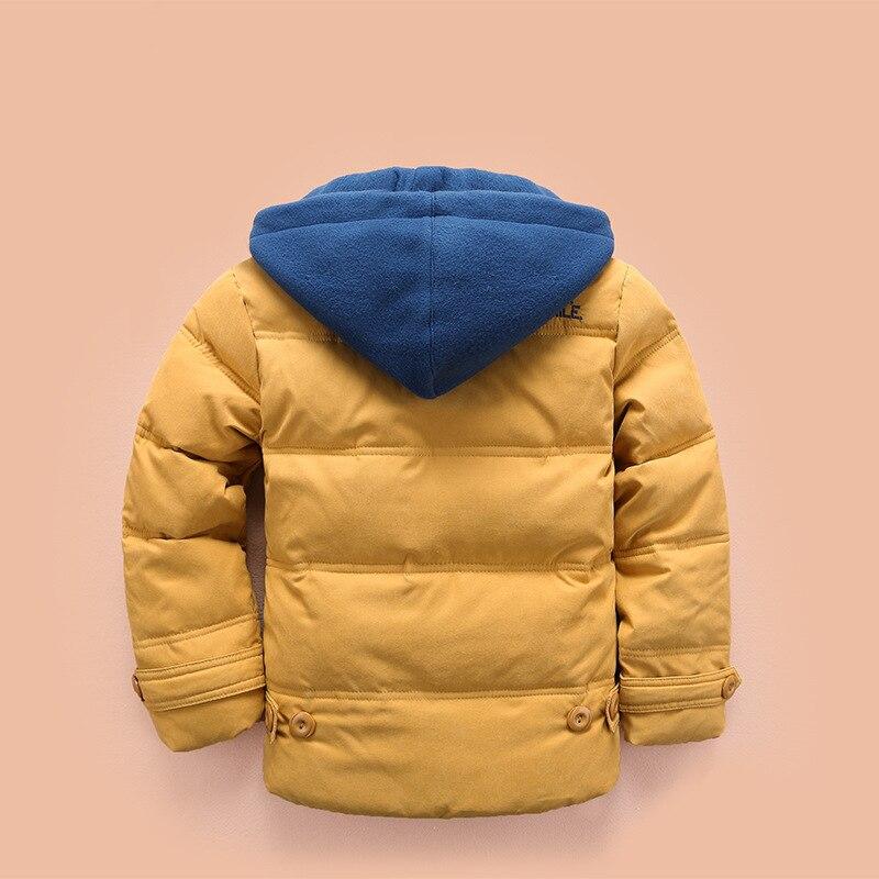Boys Winter Coat Kids Hooded Jacket Children's Clothing For Boys 3 4 5 6 8 10 Years Children Plus Velvet Jacket 2019 New 3