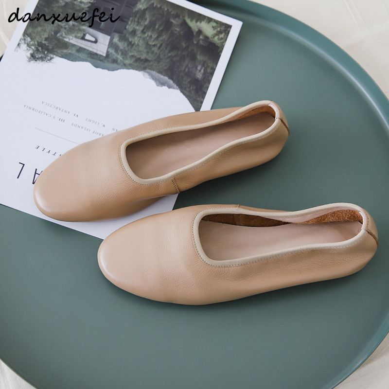 3 Color size 3 40 women's genuine leather ballerinas brand designer leisure espadrilles slip on ballet flats soft loafers shoes