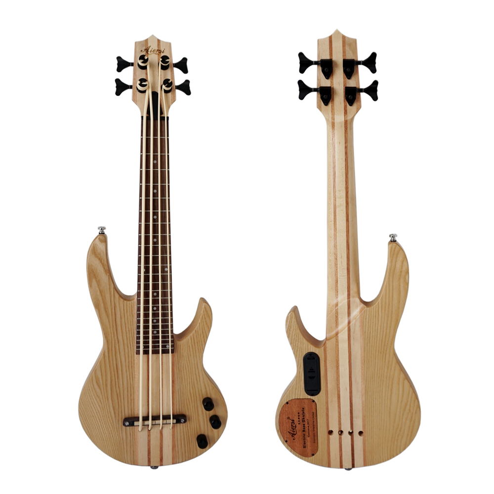 aiersi brand 30 inch all solid ash body electric u bass ukulele ukelele guitar with free padding. Black Bedroom Furniture Sets. Home Design Ideas