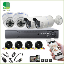 4CH CCTV System 960H DVR HDMI 4PCS 1200TVL IR Weatherproof Outdoor CCTV Camera Home Security System Surveillance Kits