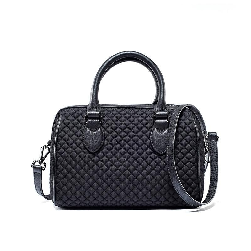 LOEIL Travel bag trend leather women's shoulder bag solid color bag female rhombic handbag pink solid color off shoulder crop bodycon sweaters vests