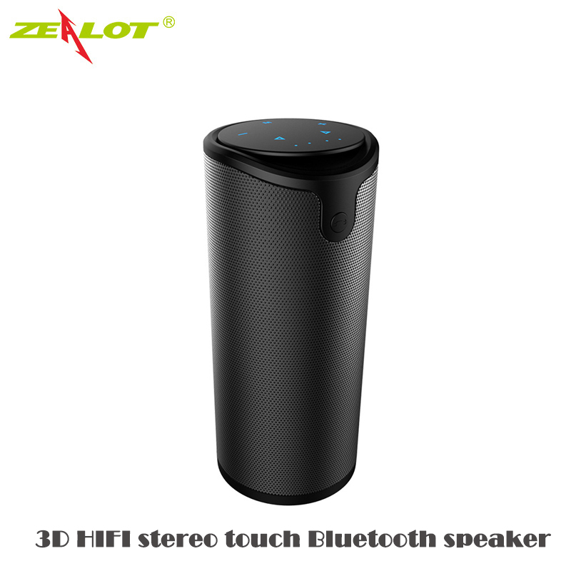 Zealot 3D HIFI touch sports headphones Wireless Bluetooth Speaker Portable Stereo Loudspeaker Call TF