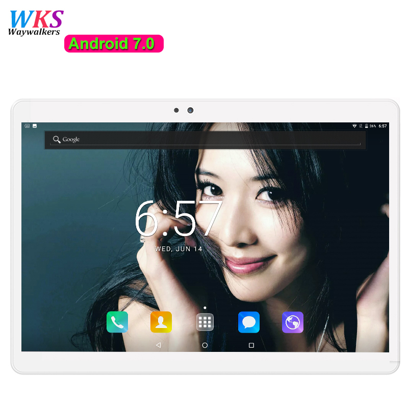 Free Shipping Android 7 0 tablet pc 10 1 inch Octa Core 4GB RAM 64GB ROM