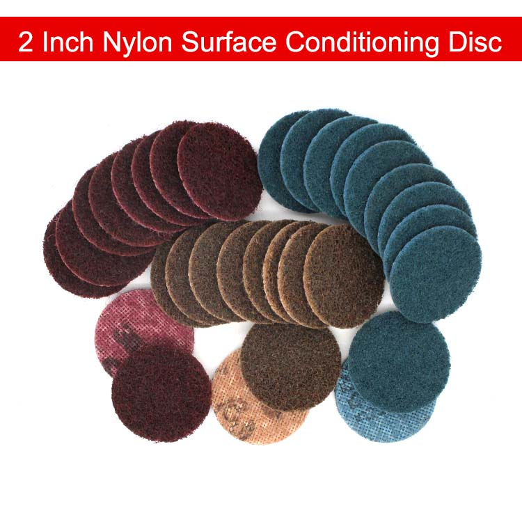 US $8 91 10% OFF|15 PCS 2 Inch Nylon Surface Conditioning Disc Quick Change  Sanding Disc Roll Lock for Metal Surface Prep, Polishing & Finishing-in
