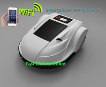 Newest Smartphone App WIFI Wireless Remote Control Robot Grass Cutter with Water-proofed Charger,Range,subarea,Compass functions