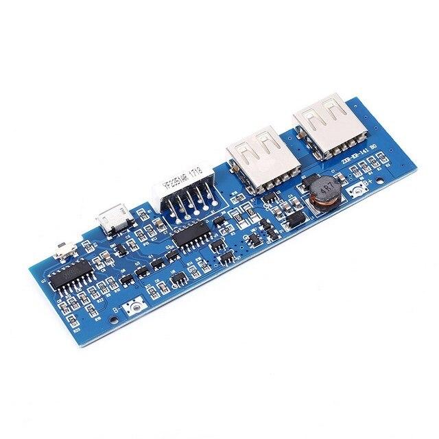 5 V 2.5A 1A 2A Banca di Potere del Caricatore Modulo Batteria Al Litio ricarica Consiglio Cifre Display A LED Micro USB Doppia Uscita USB 95*27mm