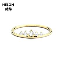 VS Natural Diamonds Engagement Wedding Ring Solid 14k Yellow Gold Women Anniversary Band Graduation Birthday Valentine Gift