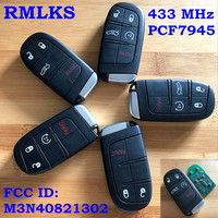 2 3 4 5 Buttons Smart Remote Key Fob For Dodge Charger Challenger Dart For Chrysler 300 For Jeep Grand Cherokee 433MHz ID46 Chip