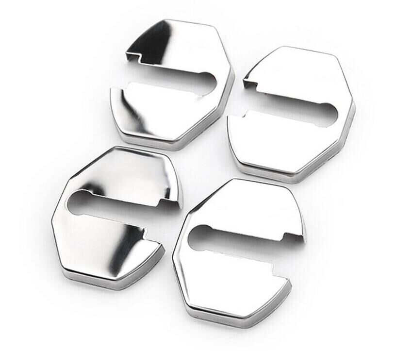 4 pieces of stainless steel door lock protective cover for - 2013 ford explorer interior parts ...