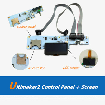 цена на UM2 Smart Controller Board Ultimaker 2 Ulticontroller V2.1 With OLED Screen Kit Control Panel For 3D Printer Parts
