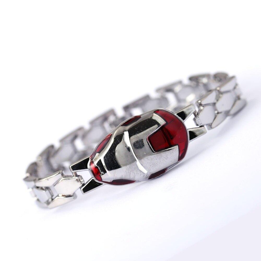 Silver Bracelet Bangle Jewelry Movie Avengers Alloy Iron-Man Cosplay The Men