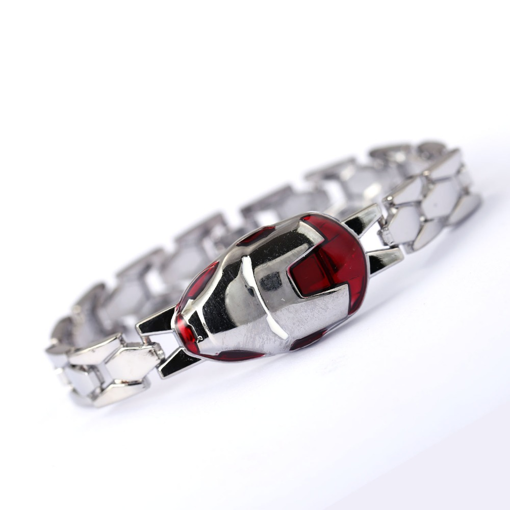 Iron Man Silver Bracelet Alloy Men Women Bracelets Movie Bangle The Avengers cosplay jewelry