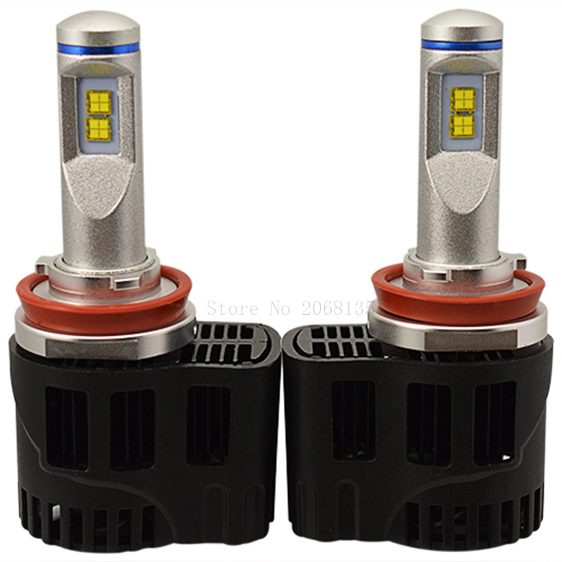 Durable 55W 5200LM H11 H8 H9 LED headlight Auto parts super bright bulb P6 LED headlamp MZ chip 3000K,4000K,5000K 6000K цена