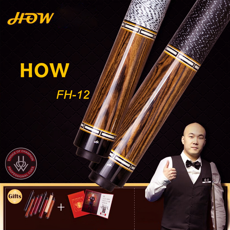 HOW Offical Store Original HOW Pool Cue FH-12B 100% Handmade Professional Black8 Cue Billiard Pool Stick Genuine 13 mm TipHOW Offical Store Original HOW Pool Cue FH-12B 100% Handmade Professional Black8 Cue Billiard Pool Stick Genuine 13 mm Tip