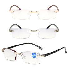 TR90 Reading Glasses Rimless Men Women Ultra-light Frameless Spectacles Glasses1.0 1.5 2.0 2.5