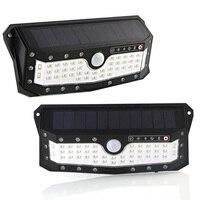 プロ 57 Led ソーラーランプ Pir モーションセンサーウォールライトスイッチ IP65 防水高輝度緊急ワイヤレスナイトランプ 1/2 個
