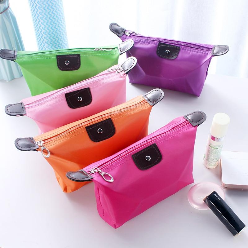 Dumpling Makeup Bag Solid Color Cosmetic Bag Casual Multifunctional Waterproof Wash Bag Toiletry Storage Handbag