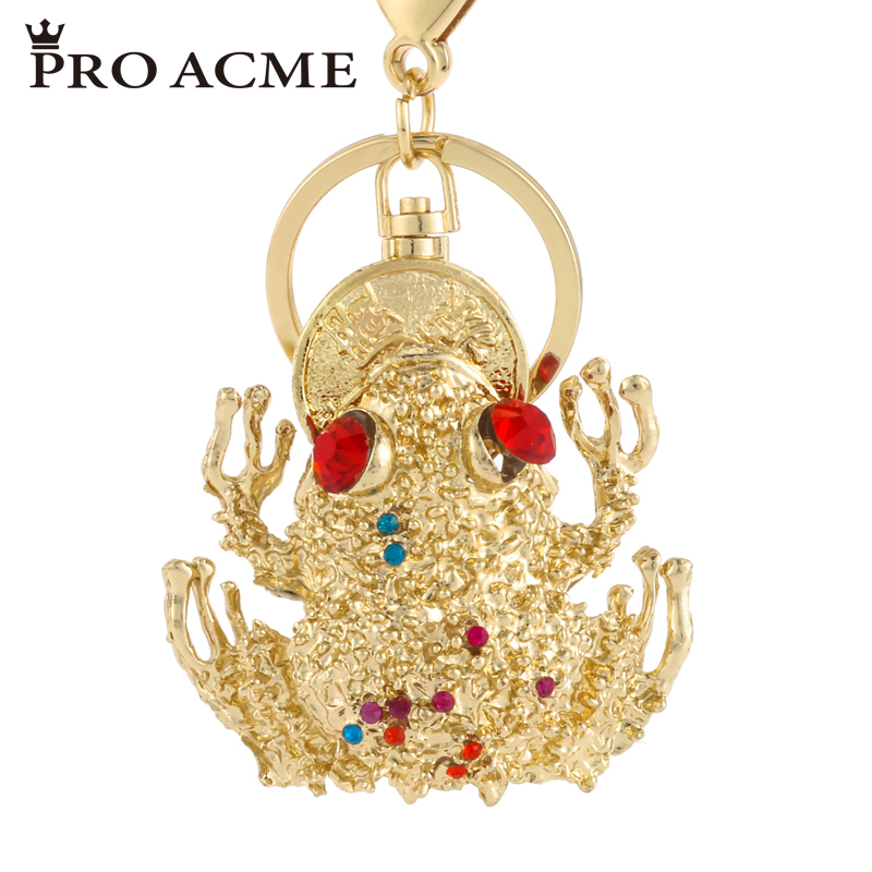 Pro Acme Gold Toad Crystal Keychains Keyrings for Women Alloy Purse Bag Key  Chain Cat Key Holder Fashion Animal Jewelry PWK0884 91341d93a