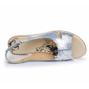 Image 3 - BEYARNE/летние женские босоножки из натуральной кожи; Удобная женская обувь; Сандалии гладиаторы; Женские сандалии на плоской подошве; Модная обувь; 128