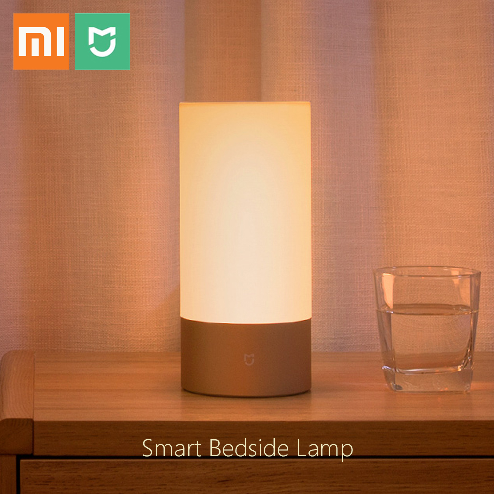Original Xiaomi Mijia Bedside Lamp Smart Night Light OSRAM LED RGBW Touch Bluetooth APP Control WiFi Connection for Smart Home