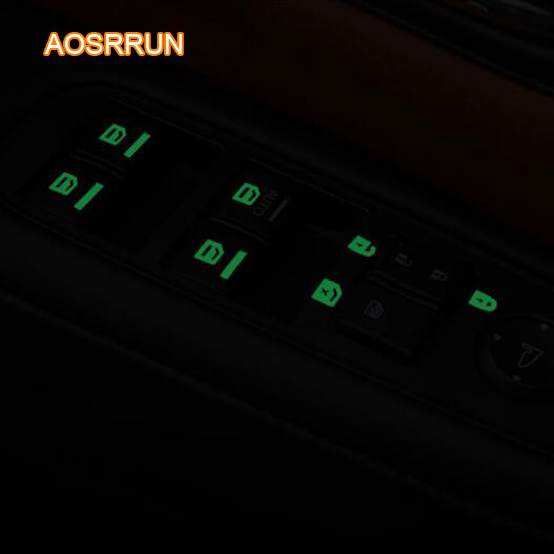 Window lift window button light to stick to the car window elevator key  stick Car accessories For Mitsubishi ASX 2018 outlander