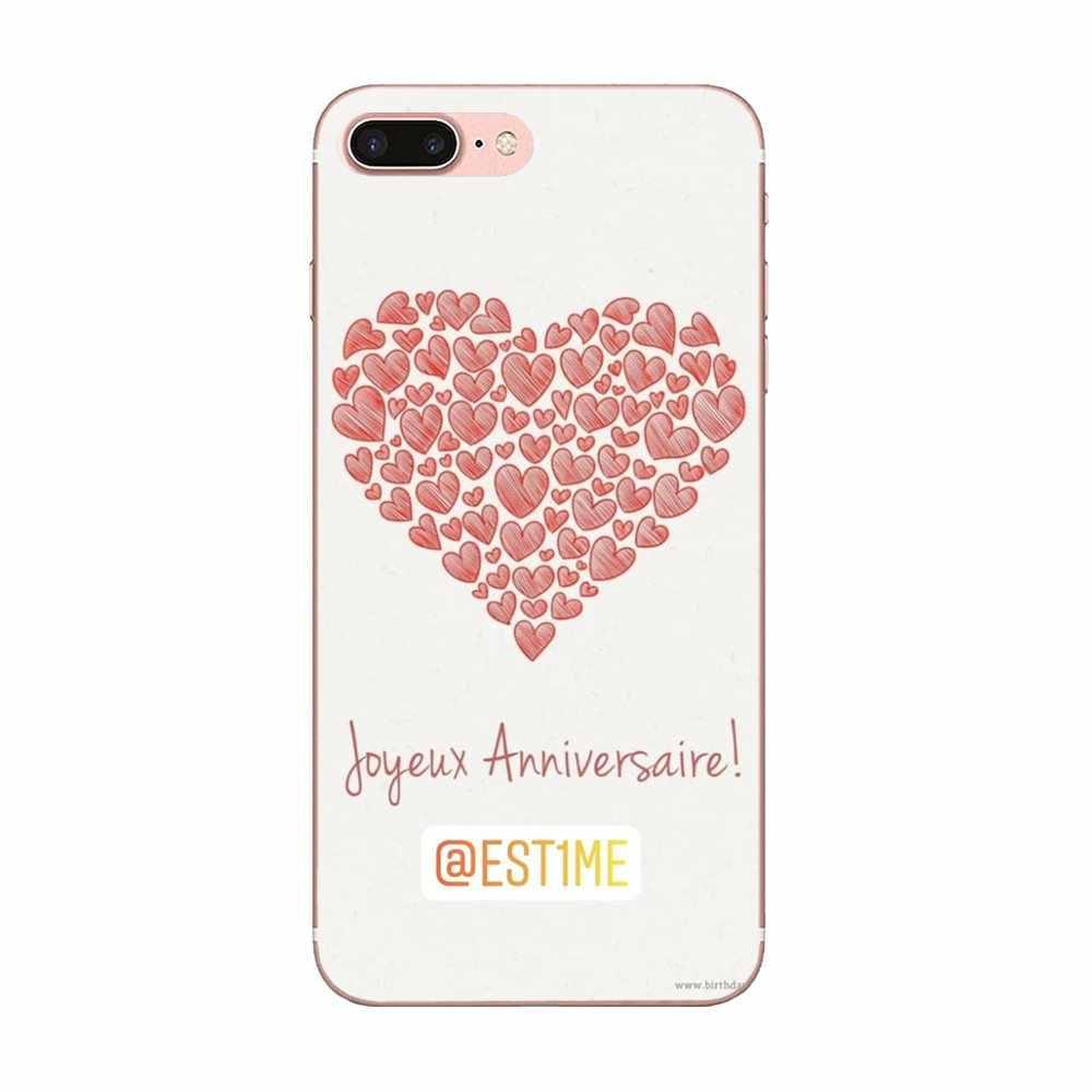 อุปกรณ์เสริมสำหรับเคส I Love You หัวใจสีชมพูสำหรับ Galaxy J1 J2 J3 J330 J4 J5 J6 J7 J730 J8 2015 2016 2017 2018 mini Pro