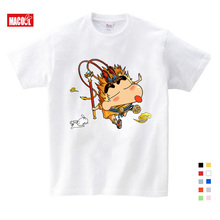 Leisure Fashion T Shirt O-Neck Style Hero Avengers Hot Game Tee Shirts Crayon Shin Chan Children Printing