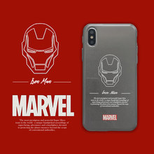 Marvel Hero Iron man Luxury Phone Case Soft Cover For iPhone 6 6s 7 8 Plus X XS XR XSMax shimmering