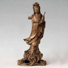 ATLIE BRONZES  buddha statue Guanyin figurines goddess of mercy Buddhist temple decoration Chinese Buddha sculpture