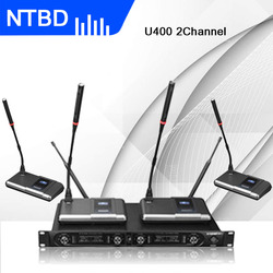 NTBD Conference Speak Anchor 4 Wireless Microphone With Receiver Audio Amplifier System