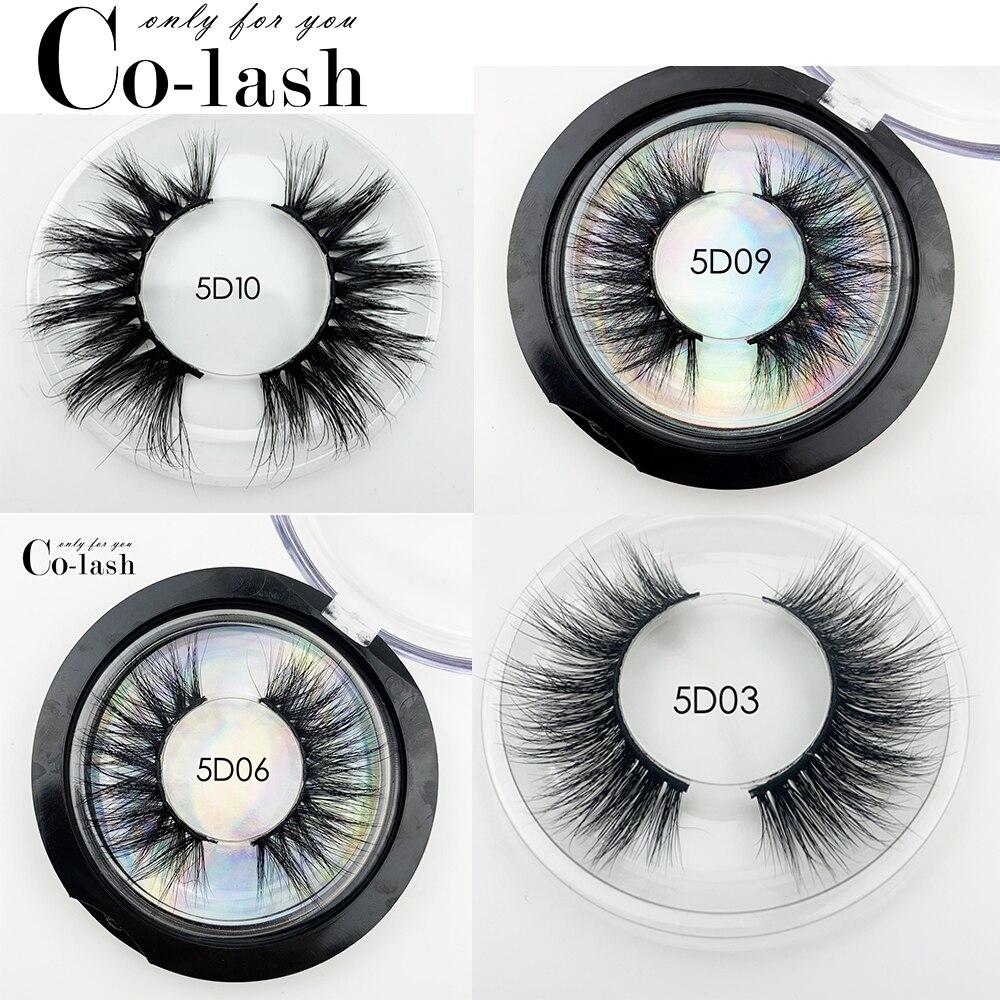 Colash Mink Eyelashes 100% Cruelty Free Handmade 3D Mink Lashes Full Strip Lashes Soft False Eyelashes Makeup Lashes