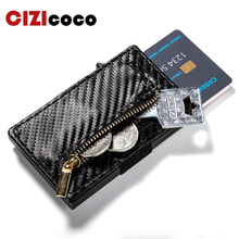 2019 New Men Women Metal RFID Card Holder New Anti-theft Credit Card Holder Fashion Aluminium Box PU Leather Travel Card Wallet цена и фото