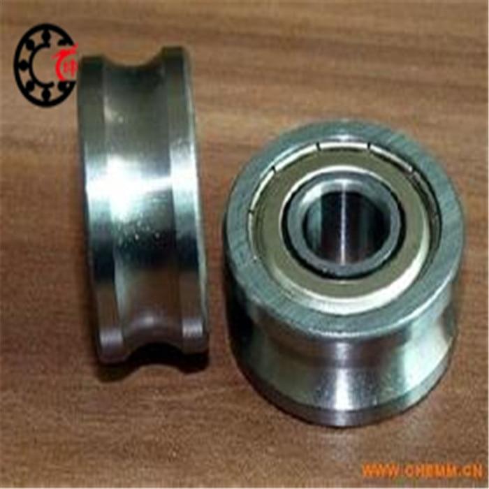 купить Free shipping high quality 6mm U Groove steel roller bearings 0638UU 6.5*36.5*9.5 mm bearing 0638UU with houseing and screw по цене 539.73 рублей