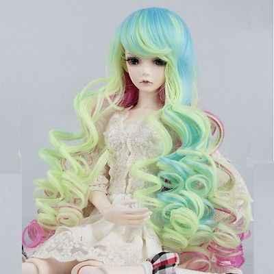 """[Wamami] 97 # красочный волнистый парик 31-42 см для 1/4 MSD AOD DOD DZ BJD Dollfie 7 """"-8"""" дюймов"""
