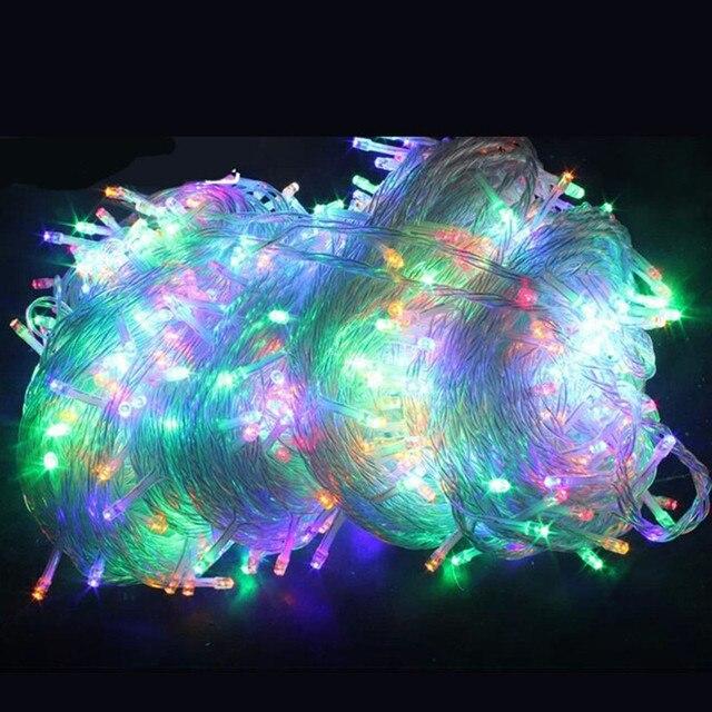 100 เมตร 800led Led String Fairy ไฟ Led ที่มีสีสัน Garland Xmas คริสต์มาสไฟ led ตกแต่งเทศกาลงานแต่งงานใหม่ปี