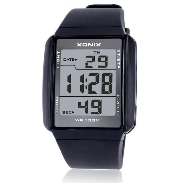 Hot!!! Men Sports Watches Waterproof 100m Outdoor Fun Multifunction Digital Watch Swimming Running LED Wristwatch Montre Homme