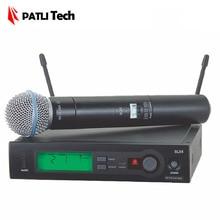 Patli Tech беспроводной микрофон SLX24/Beta58A SM58 беспроводной микрофон системы с J3: 572-596 мГц/L4: 638-662 мГц/R5: 800-820 мГц
