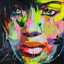 Palette knife painting portrait Palette knife Face Oil painting Impasto figure on canvas Hand painted Francoise Nielly 19