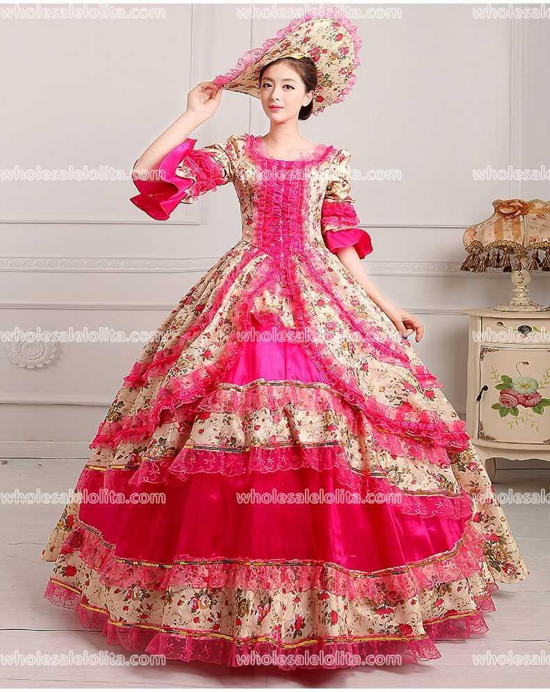 18th century corte del período meridional bodas/vestidos de Marie ...