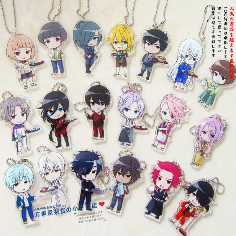 Touken Ranbu Online Game Tsurumaru Souzasamonji Kousetsusamonji Ichigo Hitofuri Cafe Ver Acrylic Charm Keychain Pendant