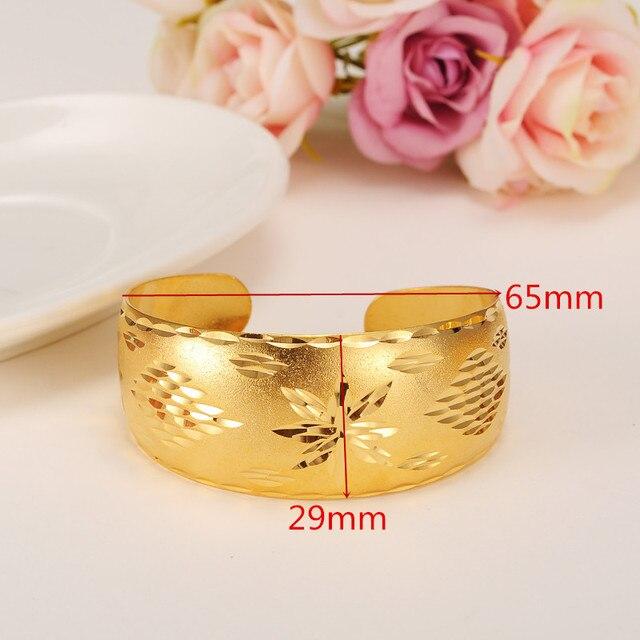 Bangrui Bracelets africains pour femmes couleur or Dubai bijoux bracelet éthiopien Bracelets arabes, cadeau de mariée/cadeau de maman