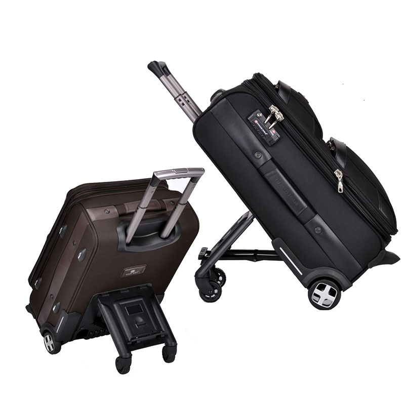 BeaSumore Men Business Rolling luggage skateboard Trolley Multi functional creativity travel bag Skateboard Suitcase Wheels