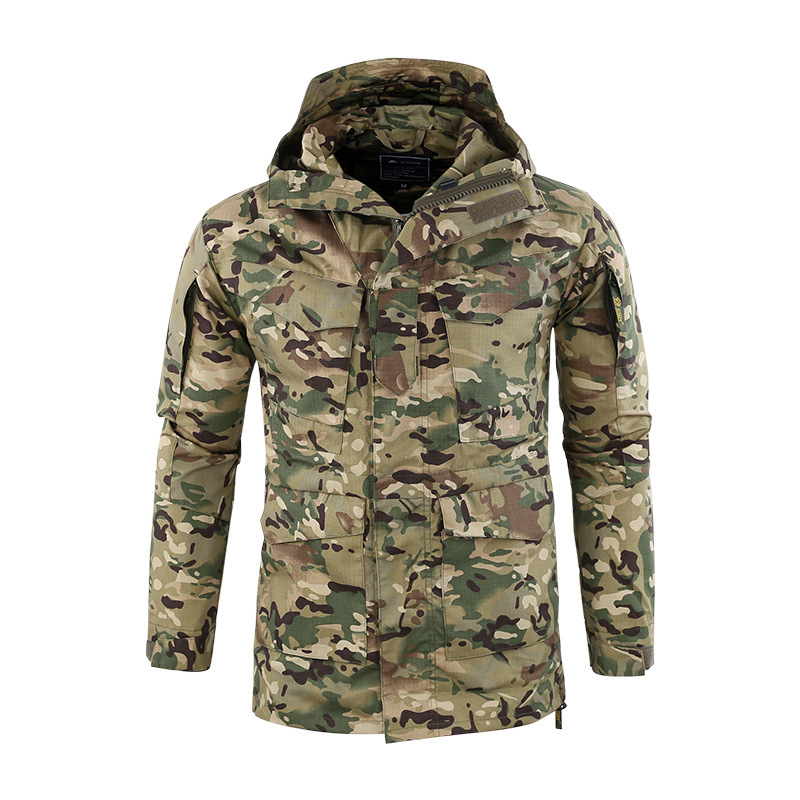 Camping & Hiking Men Outdoor Upgrade M65 Windbreaker Tactical Windproof Warm Loose Coats Camping Hiking Hunting Camouflage Training Cargo Jackets