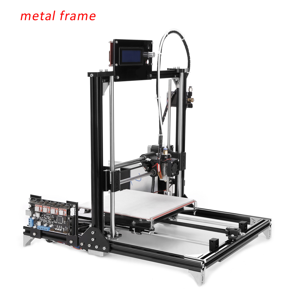 Ship From Russian newest I3 Flsun3D 3D Printer DIY Prusa I3 3D Printer Kit Heated Bed