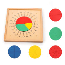 Montessori Geometric Fraction Board Wooden Educational Toys For Children Juguete Kids Learning ML0764H