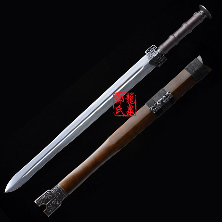 Replica Movie Hero Nameless Sword Hand Forged 1045 Carbon Steel Traditional Chinese Warring States Period Jian