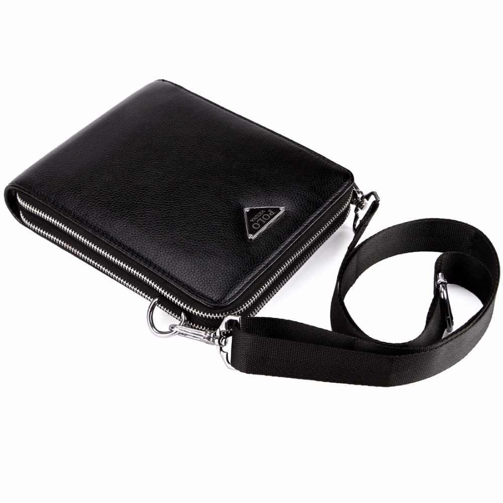 47c28470b ... VICUNA POLO Brand Double Pocket Men Bag Messenger Bags Leather Men  Shoulder Bag Business Handbag Travel ...