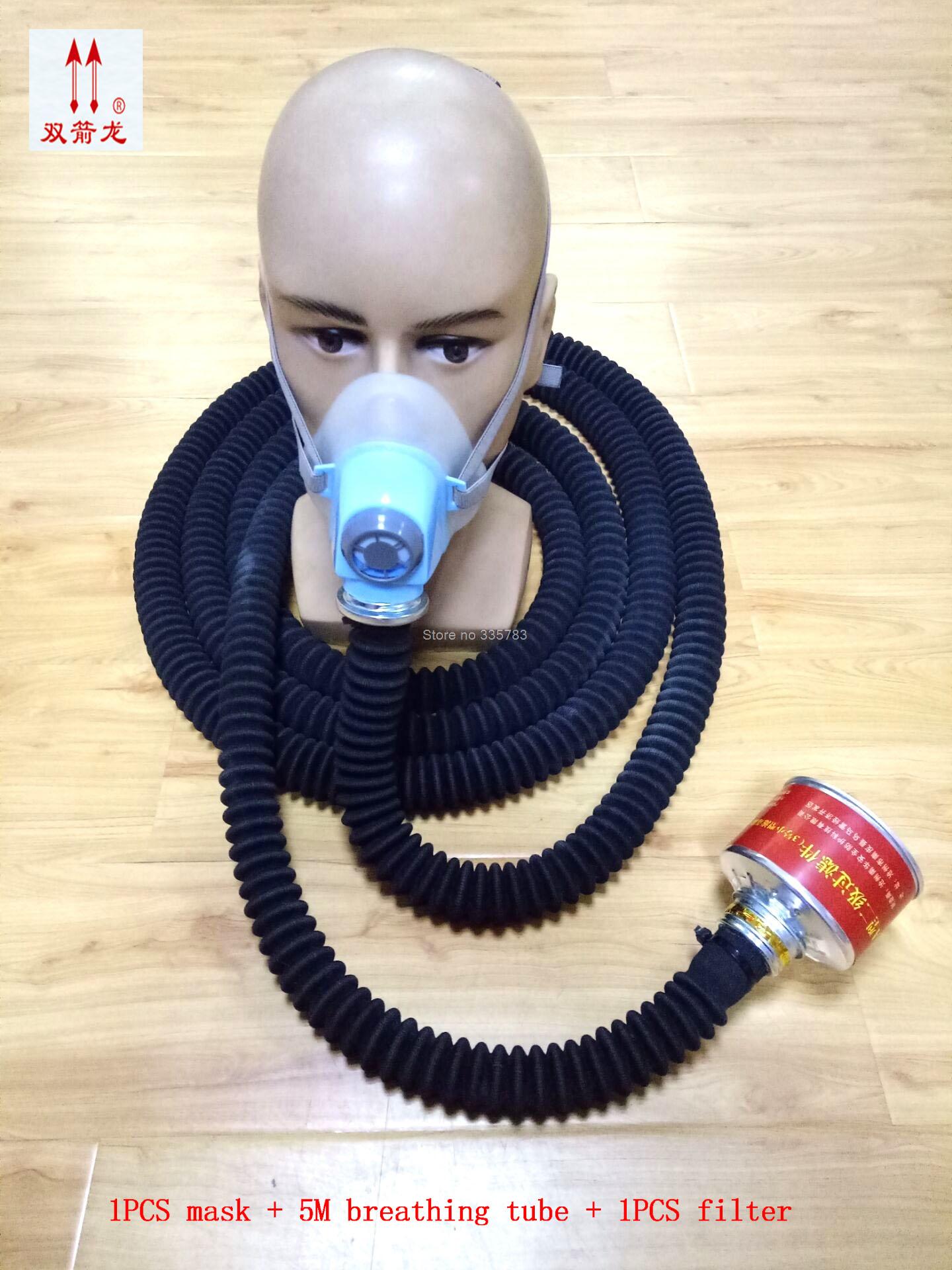 5M Breathing tube respirator gas mask high quality new gas mask tunnel basement Dangerous operation gas mask 6fc5247 caa11 1aa3 keysters mask operation panel